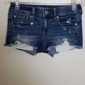 American Eagle distressed shortie